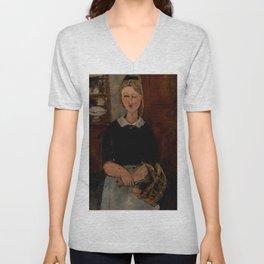 "Amedeo Modigliani ""The Pretty Housewife (La Jolie ménagère)"" Unisex V-Neck"