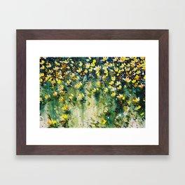 field of wildflowers Framed Art Print
