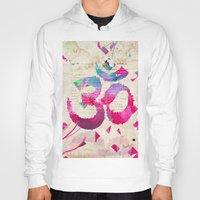 om Hoodies featuring OM by Pranatheory