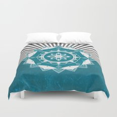 Don't Mess With Your Rising Sun (Teal) Duvet Cover
