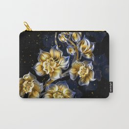 Golden Orchids Carry-All Pouch