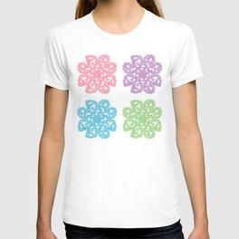 Multicolor Roses Flower Doodle T-shirt