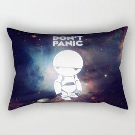Don't Panic Marvin Rectangular Pillow