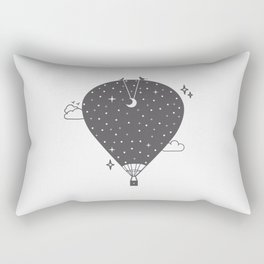 Hot air balloon at night Rectangular Pillow