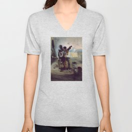 The Banjo Lesson by Henry Ossawa Tanner Unisex V-Neck