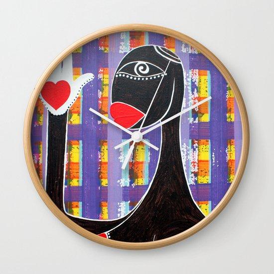 MAMMA AFRICA-CUORE IN MANO Wall Clock