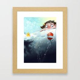 THE BATHTUB Framed Art Print