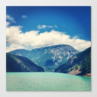 diablo Canvas Prints featuring Diablo Lake by SarahS