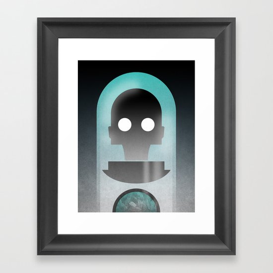 Mr. Freeze Framed Art Print