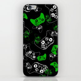 Video Game Black & Green iPhone Skin