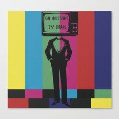 tv man Canvas Print
