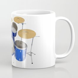 Blue Drum Kit Coffee Mug