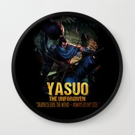 League of Legends YASUO - The Unforgiven - video games champion Wall Clock