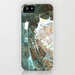 Aqua Space Shipyard iPhone Case