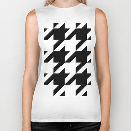 Big Houndstooth Pattern Biker Tank