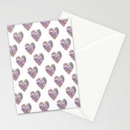 True Love, Passport Stamp Heart Stationery Cards