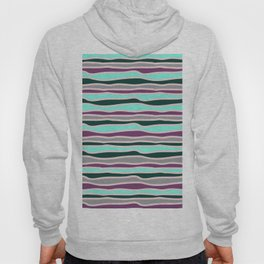 Geometrical mauve violet teal gray forest green stripes Hoody