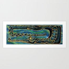 Gharial Art Print