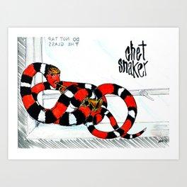 Snaker, Chet Art Print