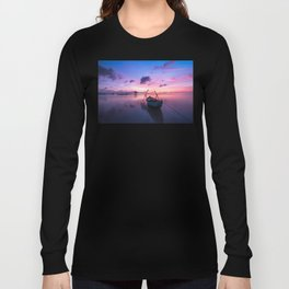 Rowboat and Sunrise on the Water Long Sleeve T-shirt