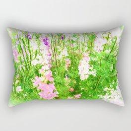 Larkspur Flowers in Soft oil Style Rectangular Pillow