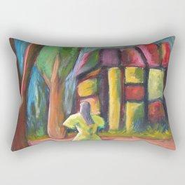 Headless Mall Girl Rectangular Pillow