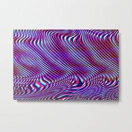 Glitch screen error Digital pixel Metal Print