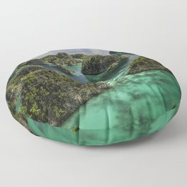 Transparent Emerald Waters and Pianoemo Island, Indonesia Photograph Floor Pillow