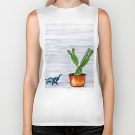The Cactus & The Happy Elephant Biker Tank