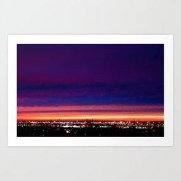 Yesterday's sunset Art Print