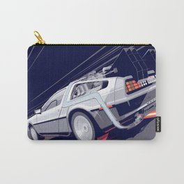Back to the Future Delorean Time travel Artwork Carry-All Pouch