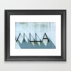 Villa Shadows Framed Art Print