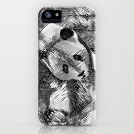 AnimalArtBW_Panda_20170703_by_JAMColorsSpecial iPhone Case
