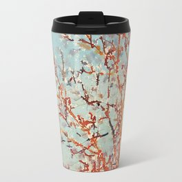 Change is in the Air -- Painterly Tree Branches From Fall to Winter Travel Mug