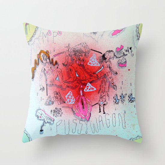 nucleus Throw Pillow