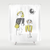 shopping Shower Curtains featuring shopping by Josephine Walz