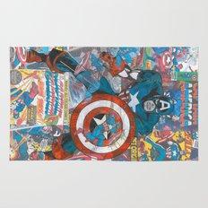 Vintage Comic Capt America Rug