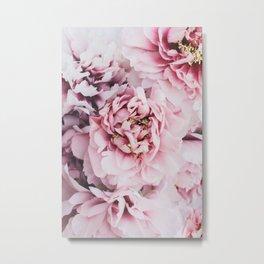 Pink Blush Peonies Metal Print