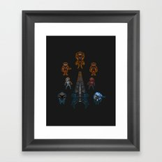 Mass Effect 2 Baddies Framed Art Print