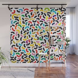 colored worms Wall Mural
