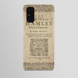 Shakespeare, Hamlet 1603 Android Case