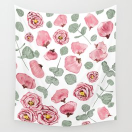Rosy Romance Wall Tapestry