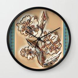"""""""Three Flowers"""" Wall Clock"""