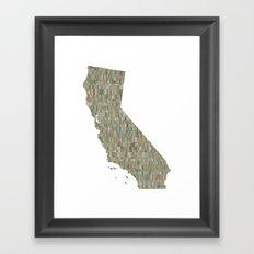 California Collage Framed Art Print