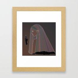 white ink 02 - dichotomy Framed Art Print
