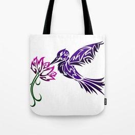 Hummingbird W/ Flower Tote Bag