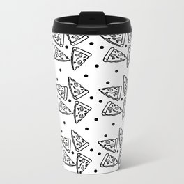 White Pizza Metal Travel Mug