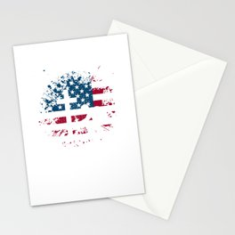 I Proudly Stand For The Flag Kneel For The Cross Stationery Cards
