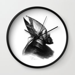 Man in a hat 2 Wall Clock