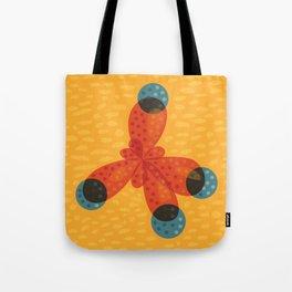 Orange Methane Molecule Tote Bag